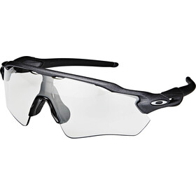 Oakley Radar EV Path Sunglasses Steel/Clear Black Iridium Photocromic